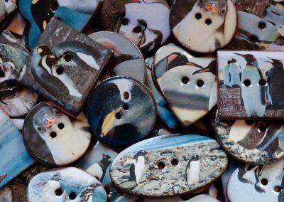 Penguin ceramic buttons